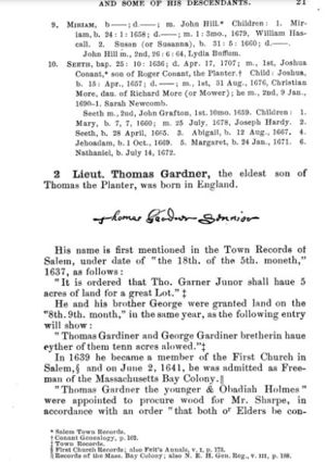 Thomas Gardner, Planter; page 21