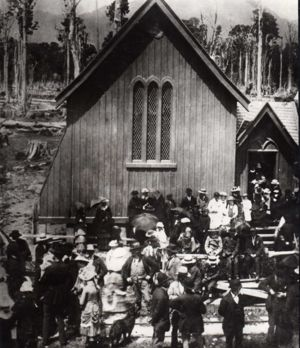 henry george pollard at church of england (anglican) in takaka bottom centre facing right