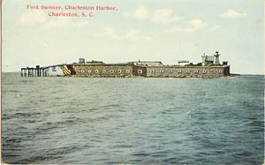 Fort Sumter Postcard