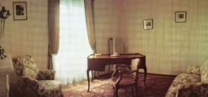 The study in the villa that Paul Kruger died in after his exile to Clarens on 14 July 1904,