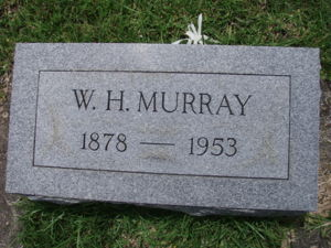 Headstone, William Hugh Murray Jr