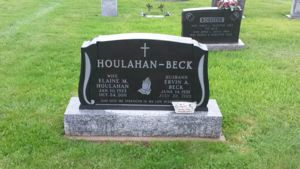 Ervin and Elaine Beck headstone