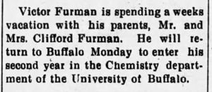 Victor Furman, University of Buffalo Student