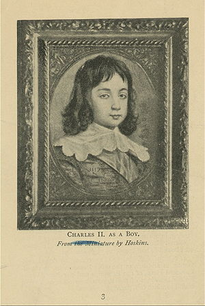 Charles II as a boy.