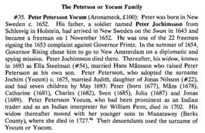 The Peterson or Yocum Family