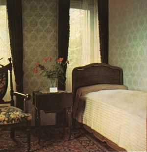 Bedroom in the villa that Paul Kruger died in after his exile to Clarens at 03:05 local time on 14 July 1904, at the age of 78