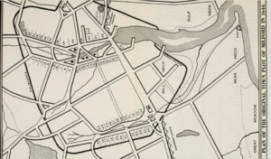 Map of Milford, Connecticut 1646