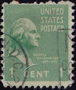 George Washington 1 Cent US Postage
