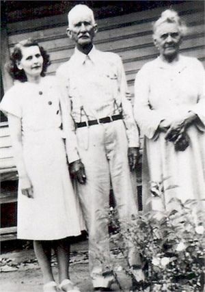 Fannie Glover Left, Father and Mother