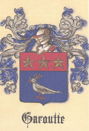 Coat of Arms for the Garoutte Family