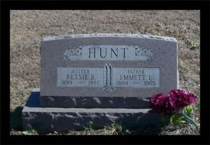 Emmett and Bessie Hunt's Tombstone