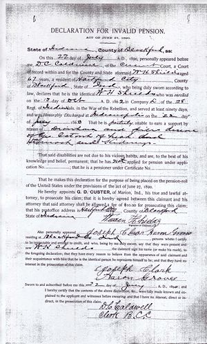 Weeden Shields Civil War Pension File Image 2