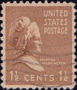 Martha Washington 1 And One Half Cents US Postage