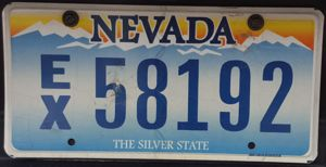 Nevada Exempt License Plate