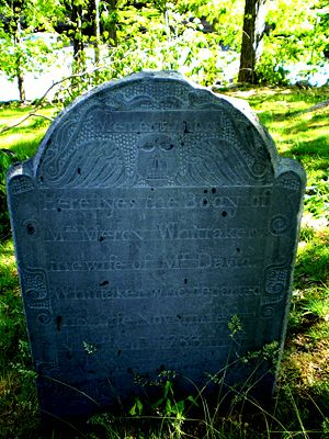 Mercy Hunt Whittaker 1676-1733, Old Hillside Cemetery, Concord, MA