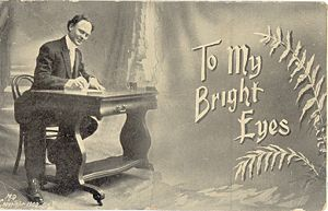 'To My Bright Eyes' Postcard