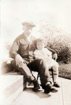 Nancy Jean with her dad, George Rogers
