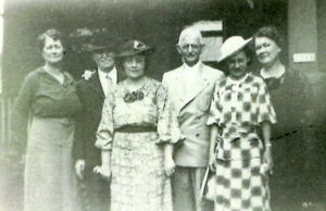 Margaret Brophey (Left), John Williams, Margaret Williams, Lou Coleman, Dolores Betzhold, and Mary Brophey (right)