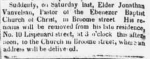 Obituary from The Evening Post