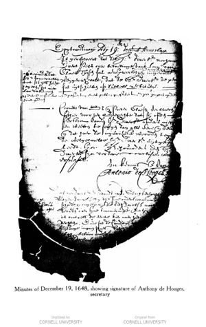 Minutes of the court of Rensselaerswyck, 19 December 1648