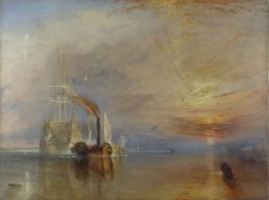 The Fighting Temeraire, tugged to her last berth to be broken up, 1838