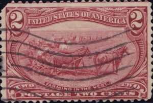 Farming in the West 2 Cents US Postage