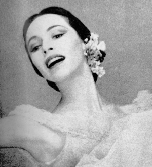 Maria Tallchief pictured on the February 1954 front cover of Dance Magazine