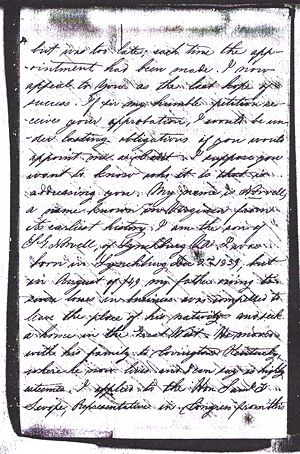 Otway B. Norvell - Application to West Point 1856 Page 3