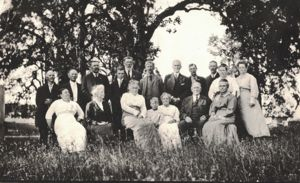 Postcard of the Edwards Family - Front