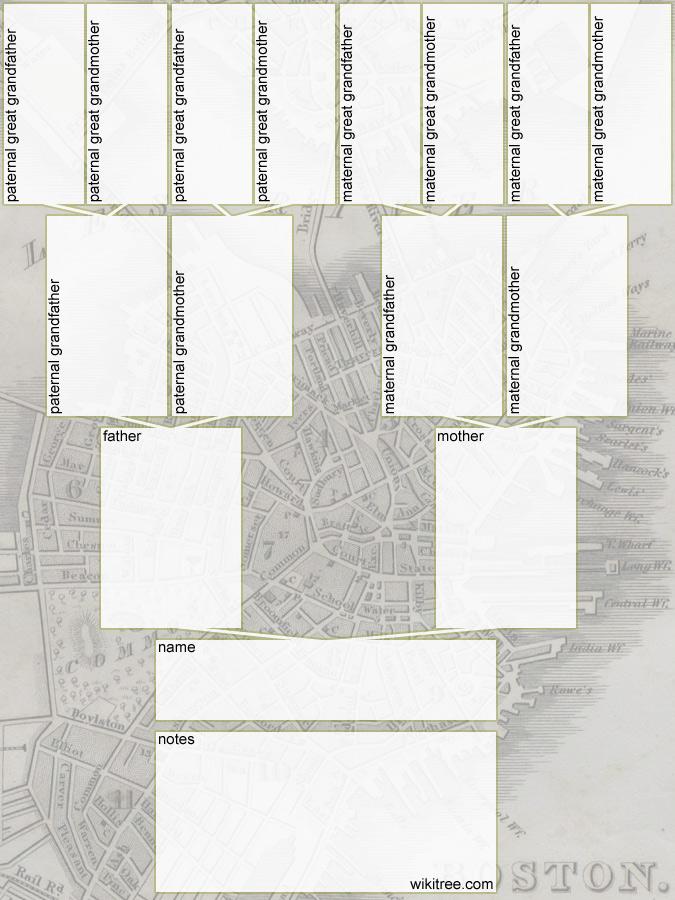 tree diagram of family